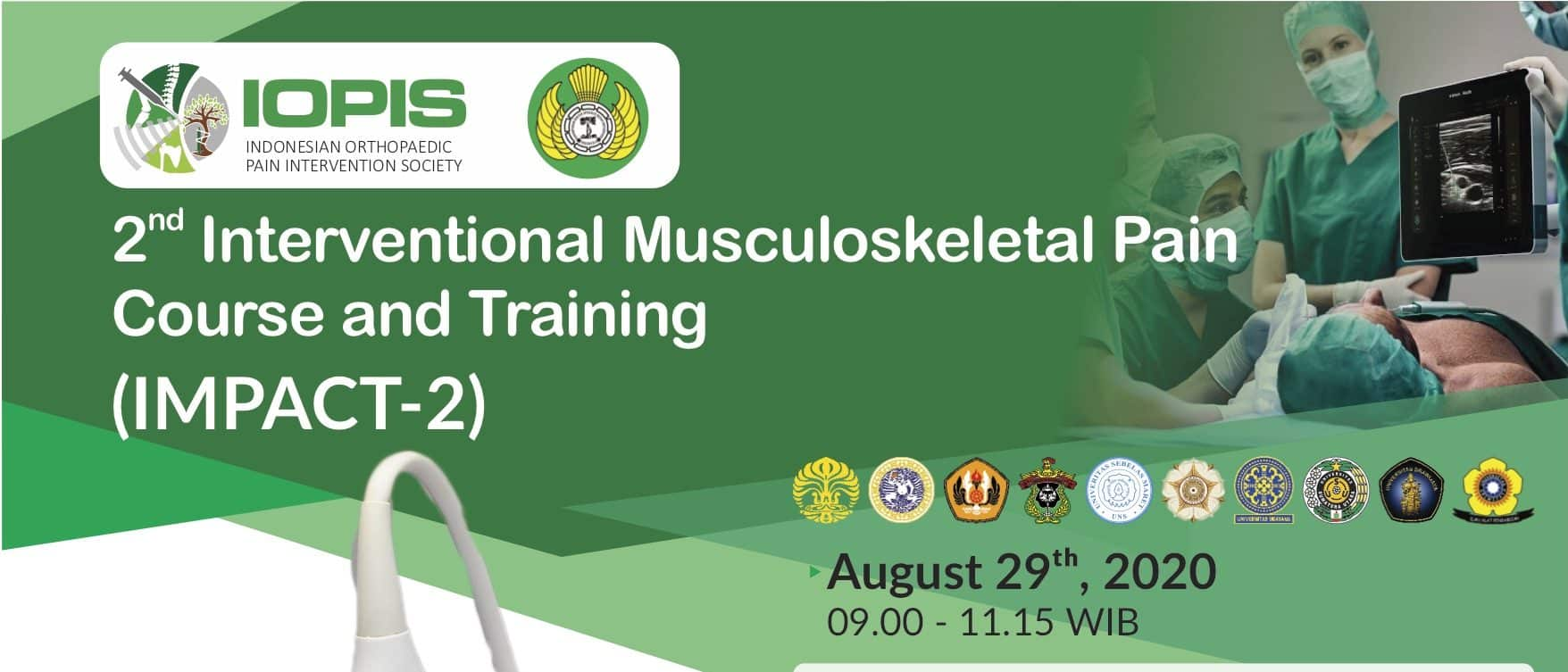 2nd Interventional Musculoskeletal Pain Course and Training (IMPACT-2)