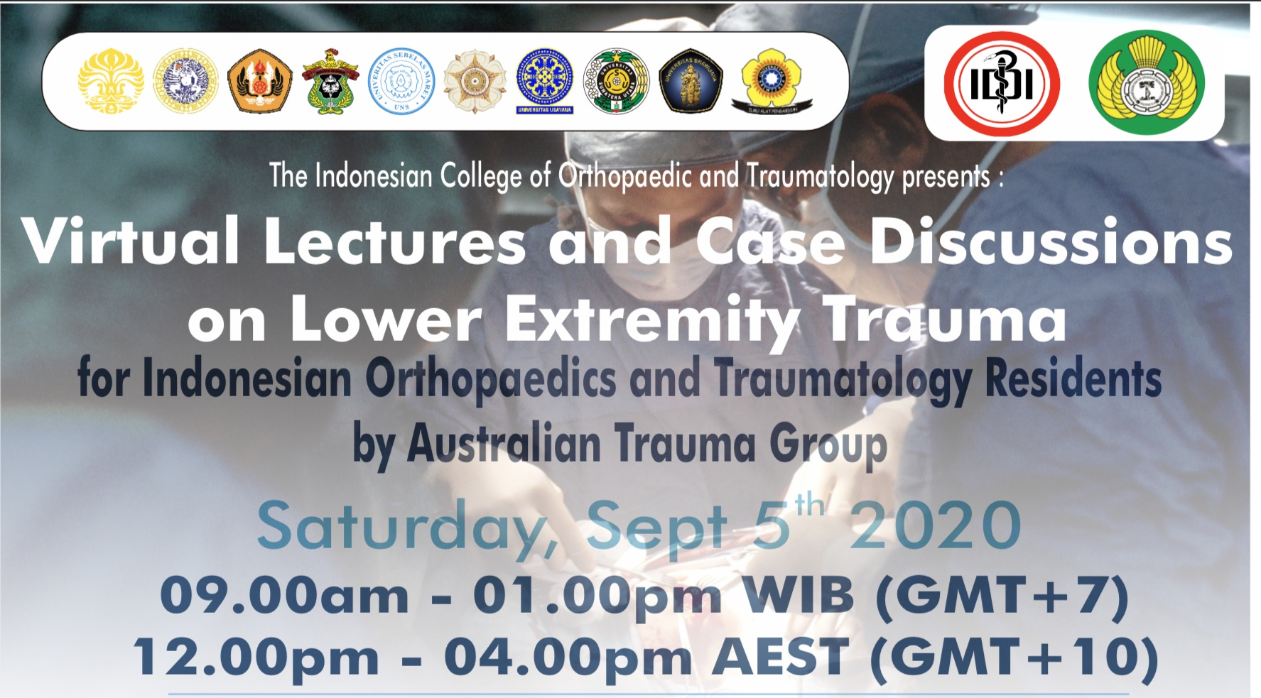 Virtual Lectures and Case Discussions on Lower Extremity Trauma by Australian Trauma Group