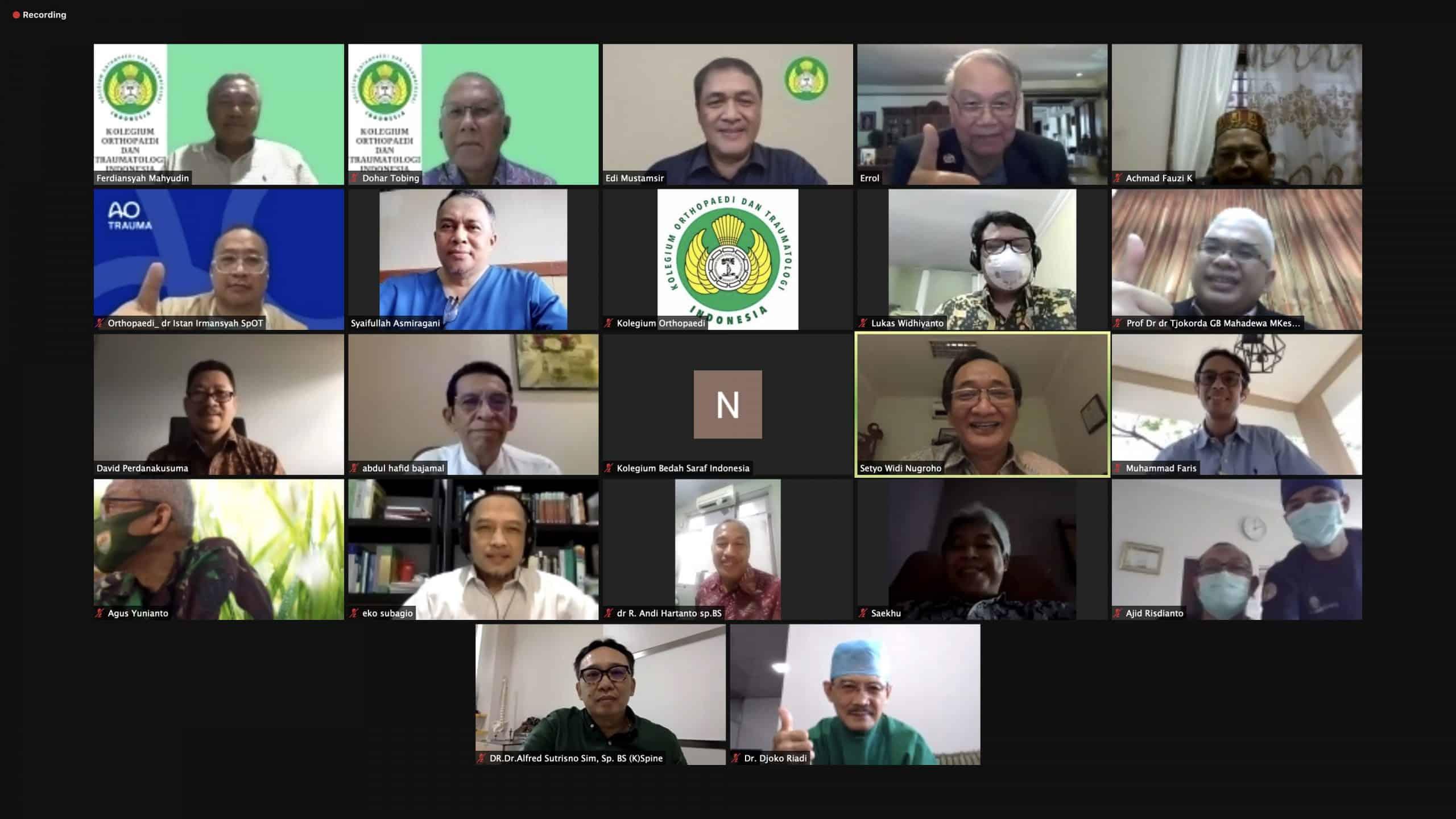 Harmonisasi Standar Pendidikan antara Kolegium Orthopaedi dan Traumatologi Indonesia dengan Kolegium Bedah Saraf Indonesia