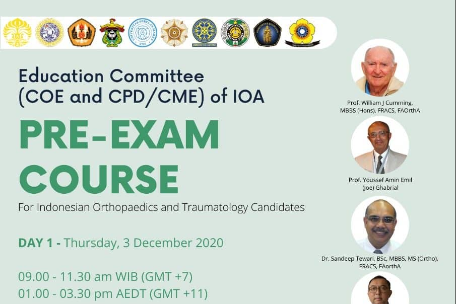 PRE-EXAM COURSE FOR CANDIDATES 3 – 5 DECEMBER 2020