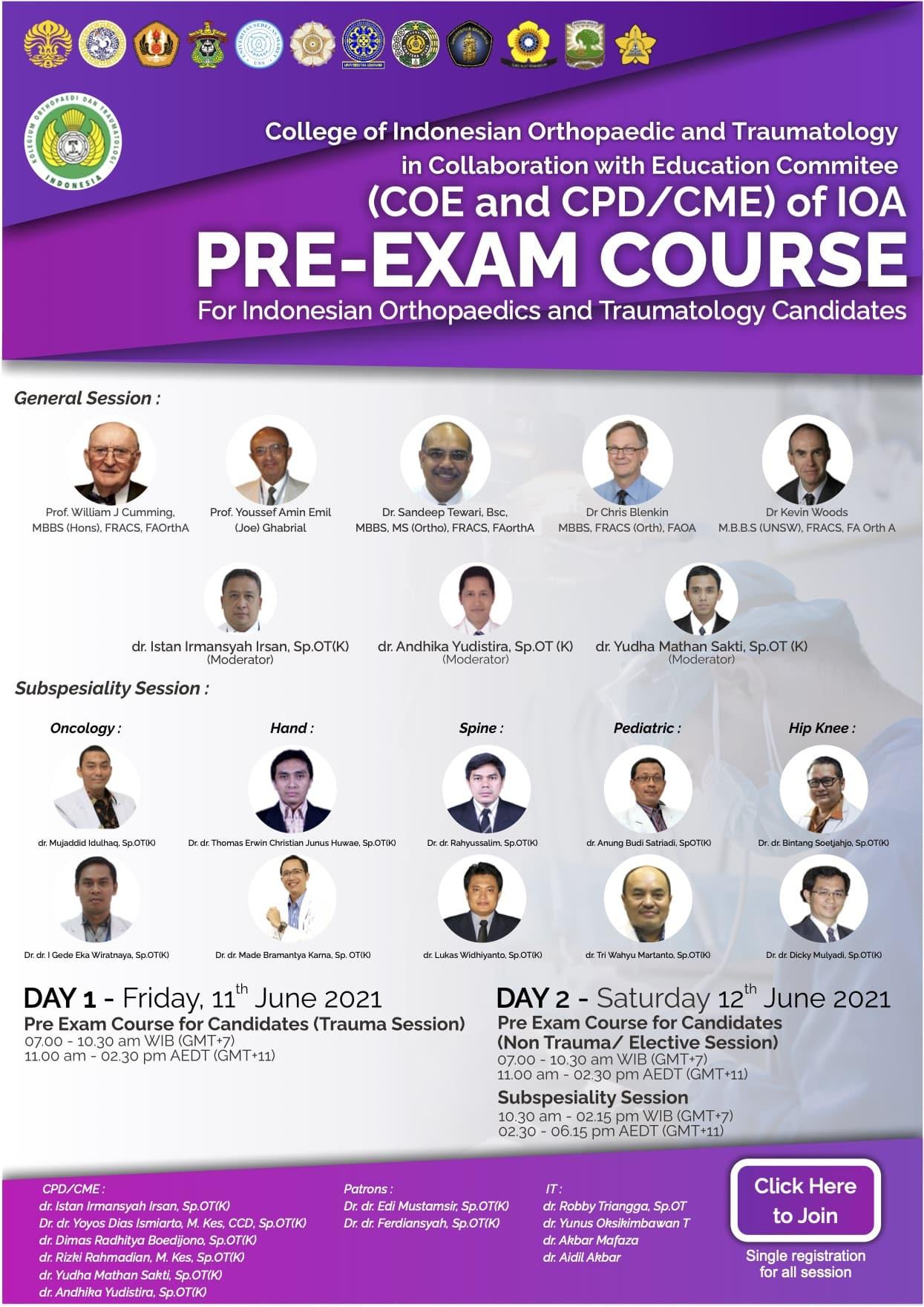 PRE-EXAM COURSE (11-12 June 2021)